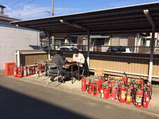 平成30年11月11日(日)浜松市西消防署にて不要消火器回収しました