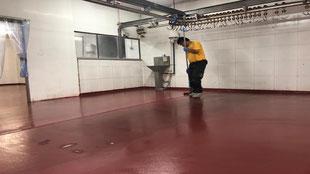 Suelos y pavimentos industriales industria cárnica de resinas continuos en Barcelona