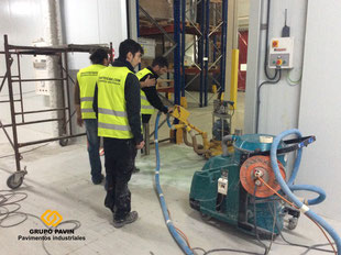 Preparación del soporte y aspirado industrial