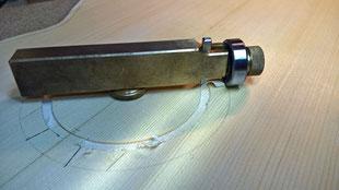 Nut für ersten Rosetten Ring wird geschnitten