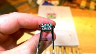 Fertiges Schallloch Mosaik Muster