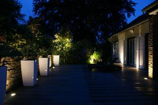 WPC Terrasse mit Beleuchtung, Gartengestaltung Gelbrich - Wuppertal