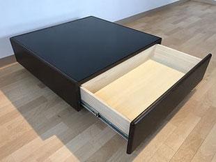 センターテーブル リビングテーブル ガラス 黒 鏡面 栃木県家具 インテリア 東京デザインセンター