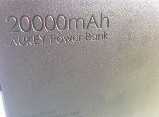 Batería externa de 20.000 mAh de Aukey