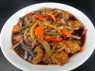 中国黒酢で作るあんが美味しい豚ヒレ肉のスブタ