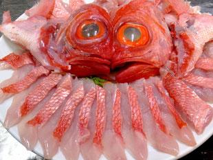伊豆下田産地金目鯛の姿盛り
