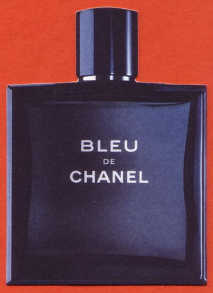 BLEU DE CHANEL - CARTE REPLIQUE ANGLAISE