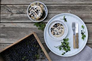 vegane Heidelbeer-Pancakes