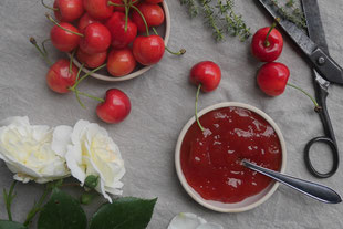 Kirsch-Thymian-Marmelade
