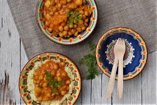 veganes Kichererbsencurry mit Reis