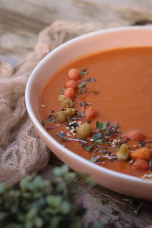 Tomaten Linsensuppe