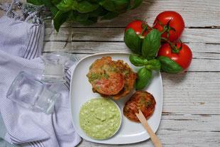 Tomaten im Kräuterteigmantel, veggie