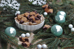 Nussecken winterlich dekoriert