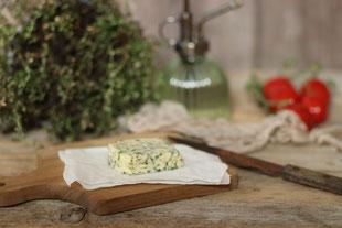 handgemachte Butter aus Schlagobers