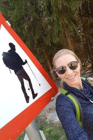 Martina Enthammer beim Wandern