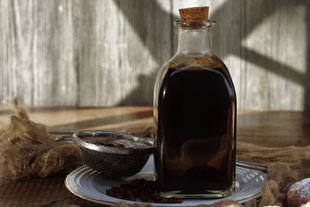 Kaffeesirup in einer Flasche