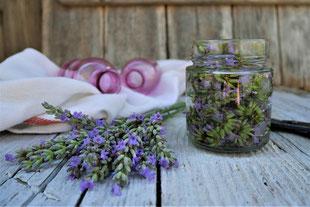 Lavendeltinktur, Tinktur mit Lavendelblüten