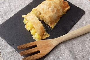 Kartoffel-Krautstrudel, veggie