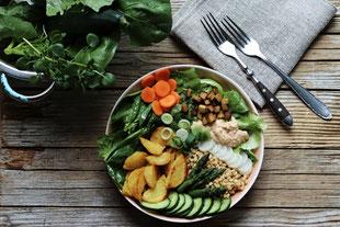 Salatbowl, saisonal und regional