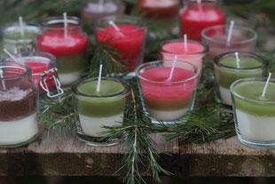 selbstgemachte Duftkerzen im Glas