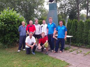 Die Teilnehmer v.l.n.r.: Bruno Bender, Bernd Frank, Udo Meuer (vorne), Alex von Alten, André Krämer, Steffen Göbel (vorne), Max Madach, Dennis Oblonczek