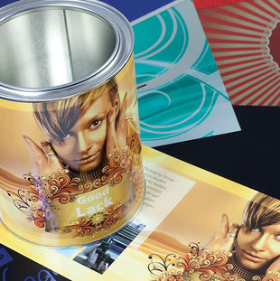 metal steel printing metal packaging HUBER Packaging