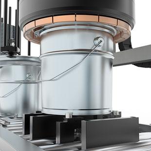 Top Expand Verschließmaschine Metallverpackungen HUBER Packaging
