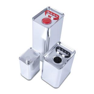 Metallkansiter Kanister HUBER Packaging
