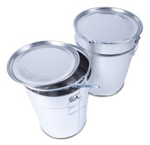 Metal pails Metal packaging HUBER Packaging hobbock
