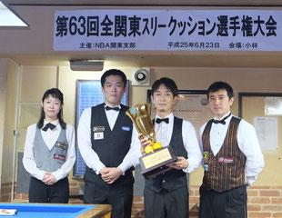 優勝の界プロは右2。全関東3C。写真:キャロムセミナー