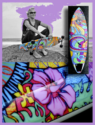 """Kaimana"" Longboard for Jucker Hawaii and Sup board for Northshore Fuerte"