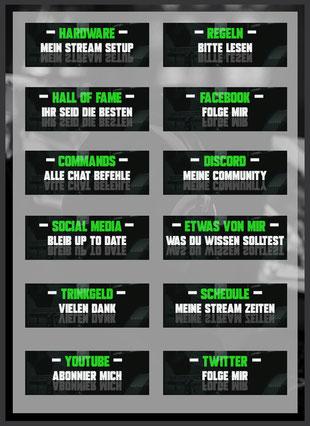 Twitch Panels 45