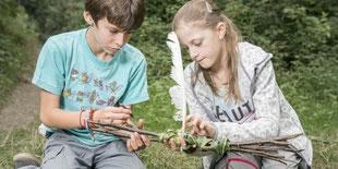 Kinder Lernen in der Natur