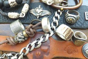 Männergeschenk Lederarmband Silberring SIlberarmband