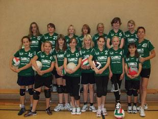 Die Spielerinnen aus 2009/2010
