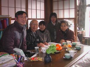 奥久慈クレソンの藤田健 茨城県大子町議宅に訪問 平成24年12月1日(土)吹雪に遭った!