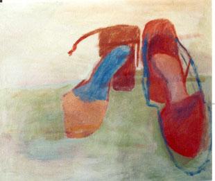 """Eva Hradil """"Das Paar"""" 2003, Öl auf LW, 50 x 60 cm,  Im Besitz von """"Sammlung Universität für angewandte Kunst Wien"""""""
