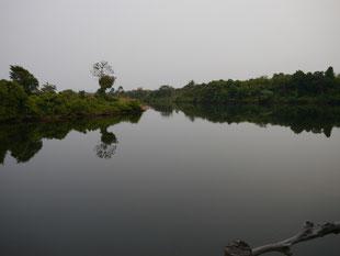 Abendstunde am River von Kambodscha (Vergrößern anklicken)