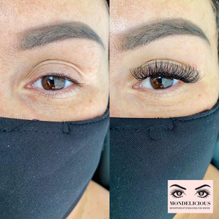 Hybrid mix Wimperextensions