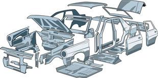 Ricambi auto di carrozzeria