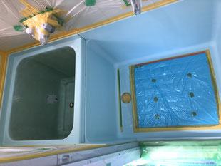 賃貸アパートハーフユニットバス再生塗装