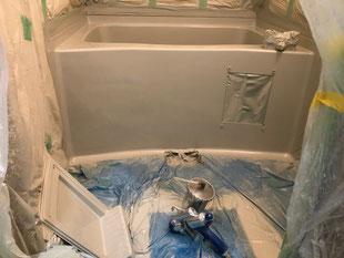 コーポFRP浴槽吹付塗装