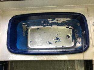 ステンレス浴槽再生塗装