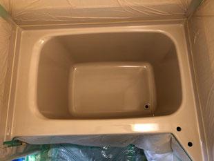 浴槽吹付塗装