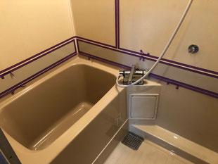 浴室巾木パネル廻りシーリング処理