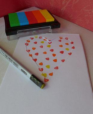 """Valentinstag - """"Last minute""""-Grußkarten - DIY-Projekt für Eilige - Beispiel 1"""