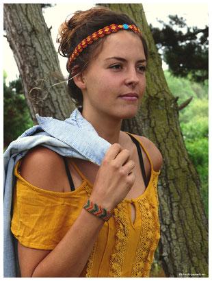 kp Kitsch-paradise artisans créateurs artiste artist créateurfrancais artisanat art bretagne  bijoux macramé micromacramé tissage weaving weavingart headband bracelet turquoi pierre stone chevron