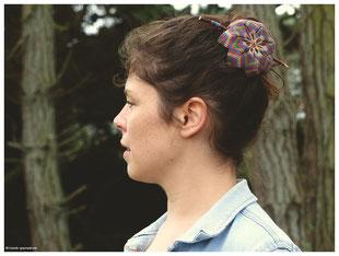 kp kitsch-paradise artisans créateurs mandala barrette macramé