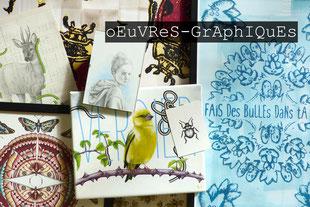 Kitsch-paradise kp art artisans créateurs œuvres graphiques