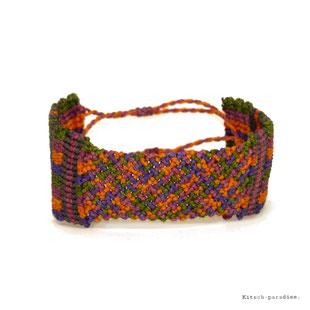 kp Kitsch-paradise artisans créateurs artiste artist créateurfrancais artisanat art bretagne  bijoux macramé micromacramé tissage weaving weavingart bracelet